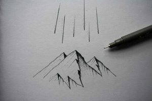 山イラスト