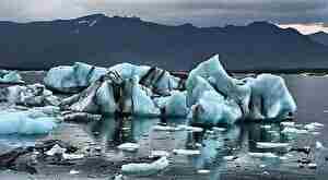 氷河、海、寒い