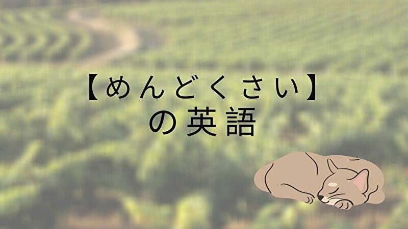 めんどくさい英語