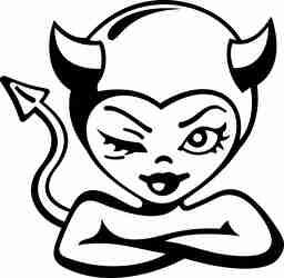 悪魔、女の子、お茶目