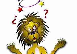 混乱した、ライオン