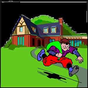 泥棒、逃げる、猛スピード