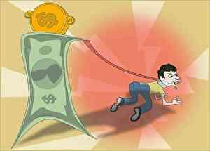 借金に苦しむ