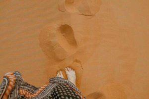 砂のへこみ
