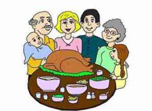 家族の集まり、食事