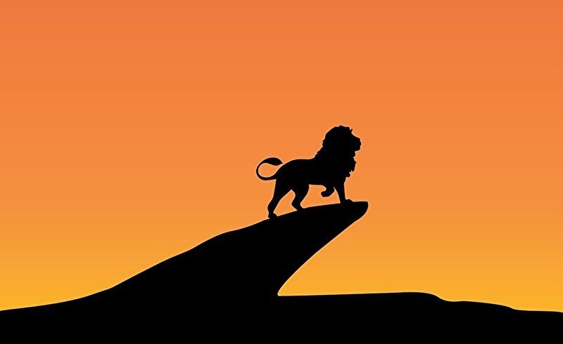 孤独なライオン