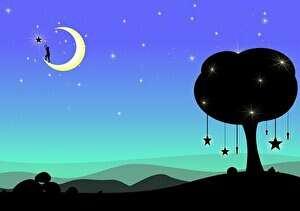 夜の雰囲気、月