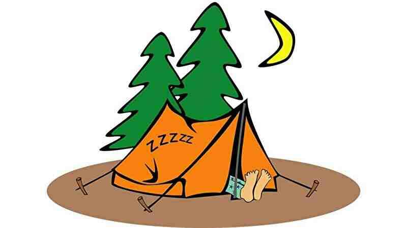 テントで睡眠