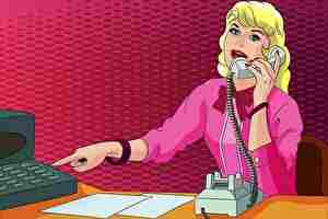 秘書、女性