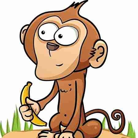 サルとバナナ