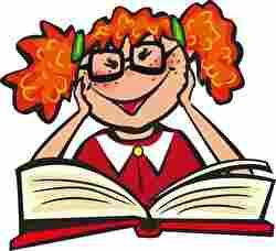 本と女の子、読書、本の虫