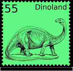 恐竜、切手