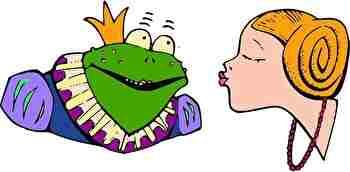 カエルのキス