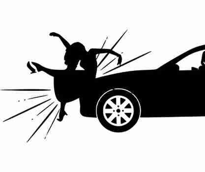 車、事故、女性、被害者