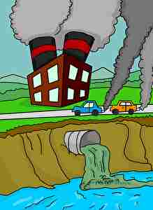 工場からの排水、排ガス