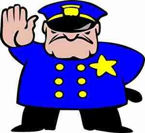 職務を果たす警官
