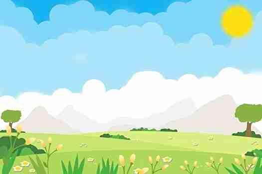 静かで穏やかな野原