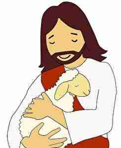 羊を抱く男