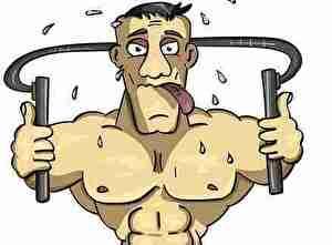 筋肉トレーニングをする人