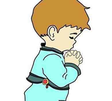 神様にお祈りする子供