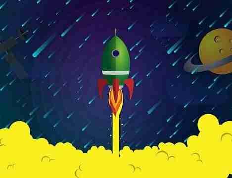 宇宙船を発射する