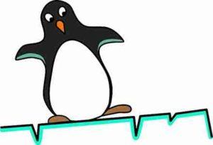 安定しないペンギン