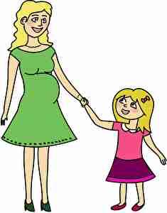信頼できる母親と子供