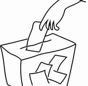 選挙で投票する人
