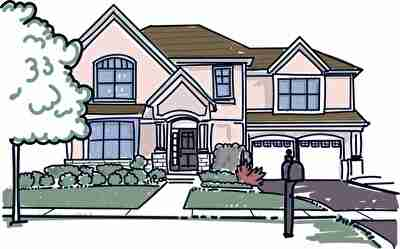 住宅、一軒家、新築の家