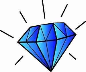 青いダイヤモンド、宝石