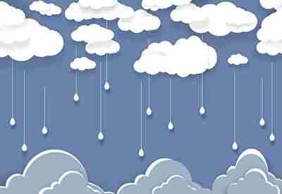 雲から雨が降る
