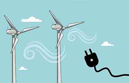 風車、発電、自然を保護