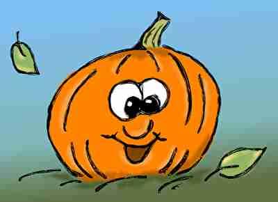 陽気な笑顔のかぼちゃ