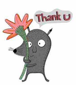 ありがとうと言うネズミ