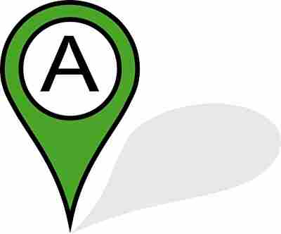 場所を示す地図のフラッグ