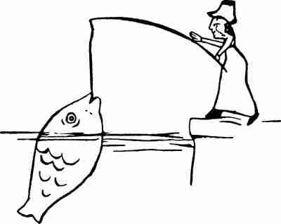 大きな魚を釣る女性