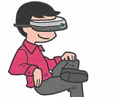 仮想現実を楽しむ男性