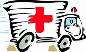 救急車、怪我、病院