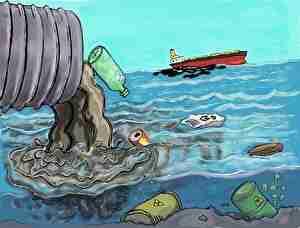 海に排出される汚い物