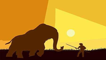 ゾウと戦うヒーロー、昔話