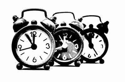 3つの時計の時間